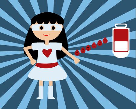 donor: Donante de Super para la donaci�n de sangre Vectores