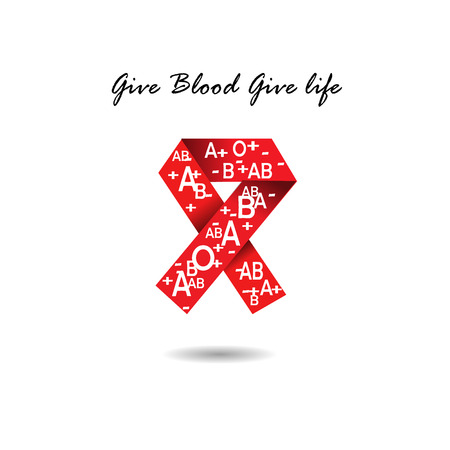 Blood Donation ribbon Stock fotó - 36774796