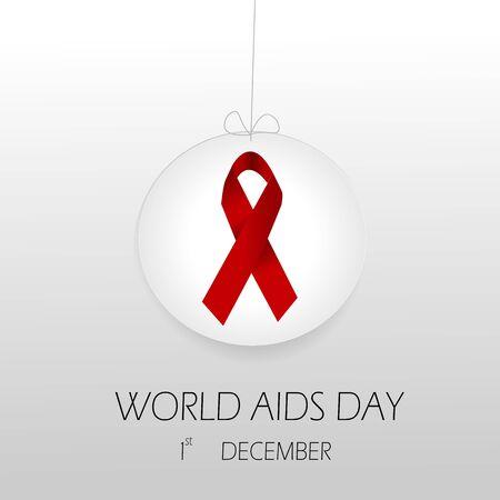 virus sida: d�a Mundial del SIDA con la cinta roja