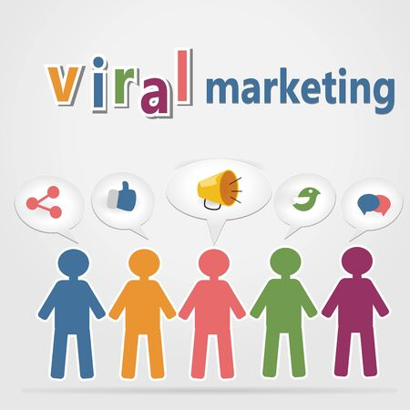 Viral Marketing Concept Vector