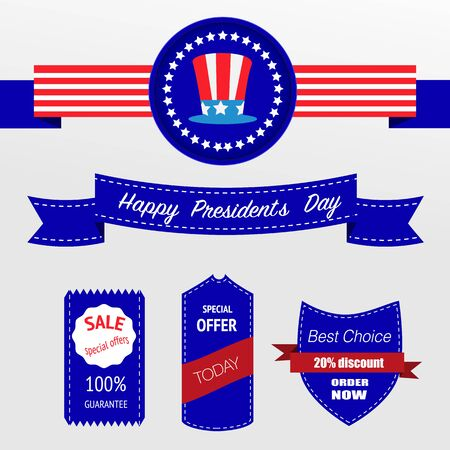 presidents: Happy Presidents day badges