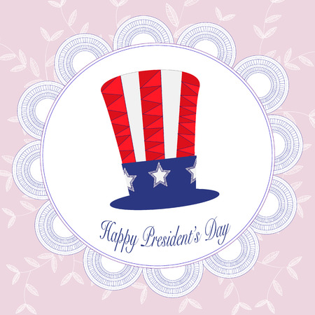 presidents: Happy Presidents day badges in Zentangle background Illustration