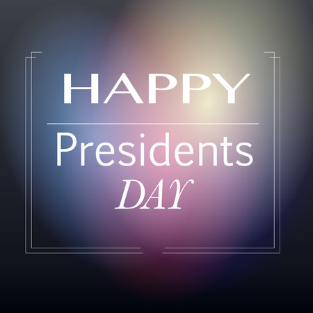 presidents: Happy Presidents day in blur background