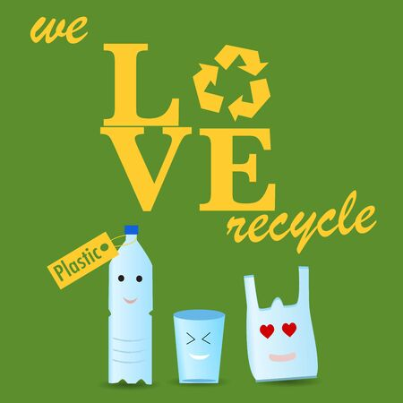 potable: The plastic recycle poster Illustration
