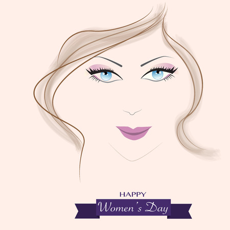The women face to celebrate the international womens day Illustration
