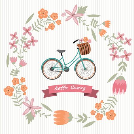 La couronne de fleur cru à vélo Banque d'images - 38253052