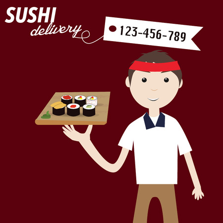 Sushi delivery Stock fotó - 40441984