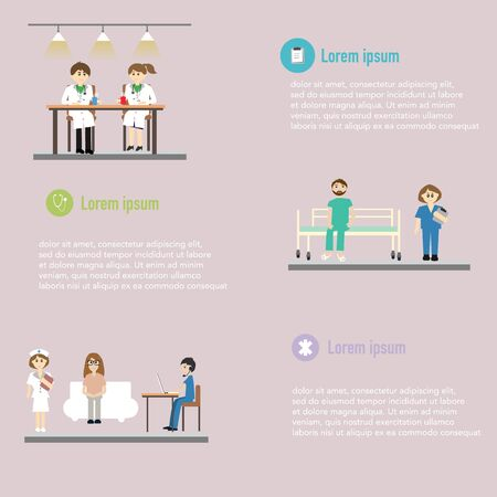 Medical co working space concept Vector
