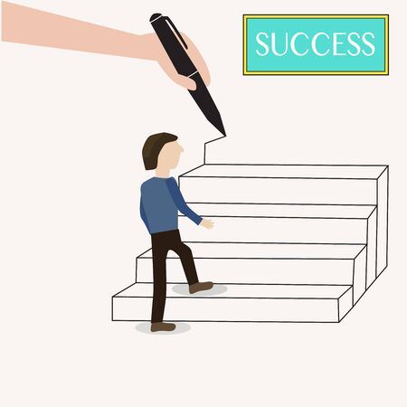 The way to success Vector