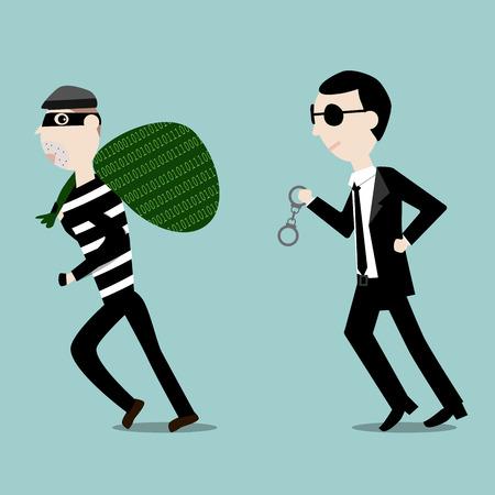ladron: El ladrón digitales robado los datos