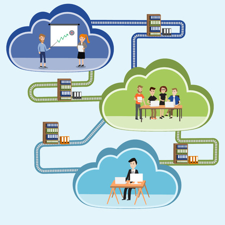 operative system: Cloud computing concept.e-business.illustration EPS10. Illustration