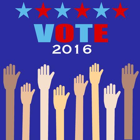 senate: American election 2016  vector. illustration