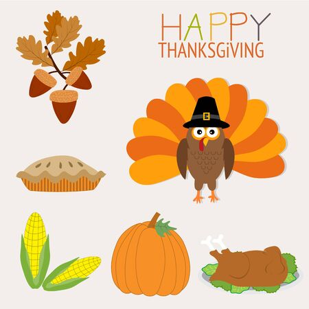 thanks giving: Happy Thanks giving vector. illustration   Illustration