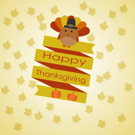 thanks giving: Happy Thanks giving vector. illustration
