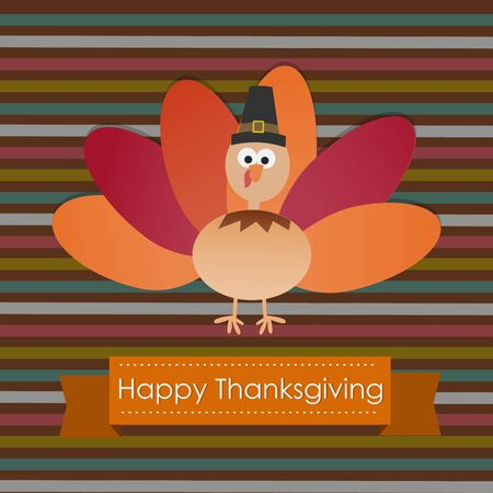 happy holidays card: Happy Thanks giving vector. illustration   Illustration