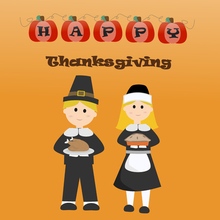 giving: Happy Thanks giving vector.