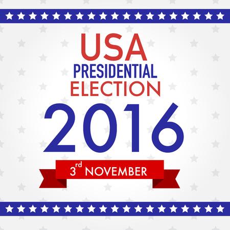 partisan: American election 2016  vector illustration. Illustration