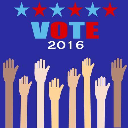 partisan: American election 2016  vector.