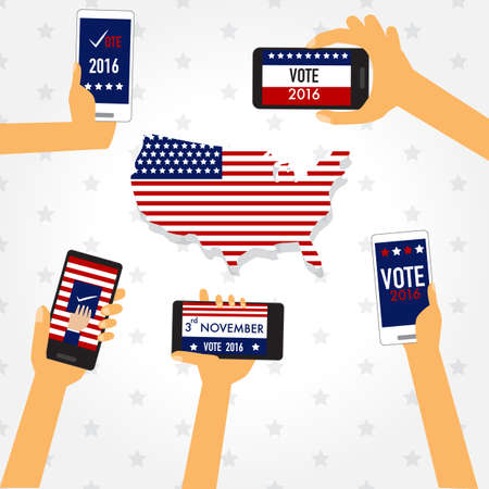 partisan: American election 2016  with smart phone