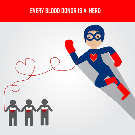 provide: People are hero for blood donation Illustration