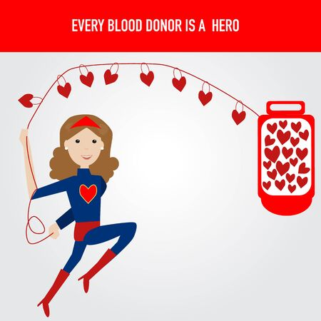 grant: People are hero for blood donation Illustration