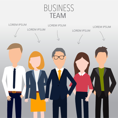business team: People in business team concept