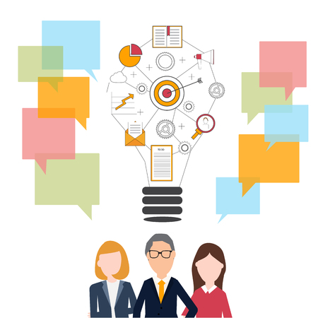 business team: People in business team concept.
