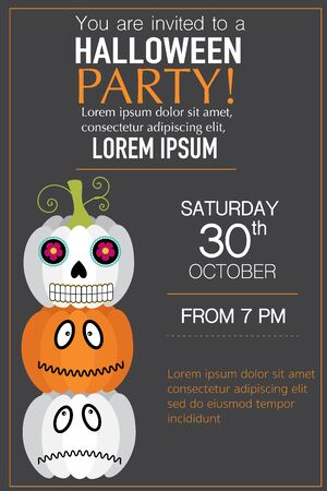 spider web background: Halloween party invitation cards spider web background  with hand lettering text