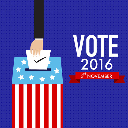 partisan: American election 2016  vector. illustration EPS10.