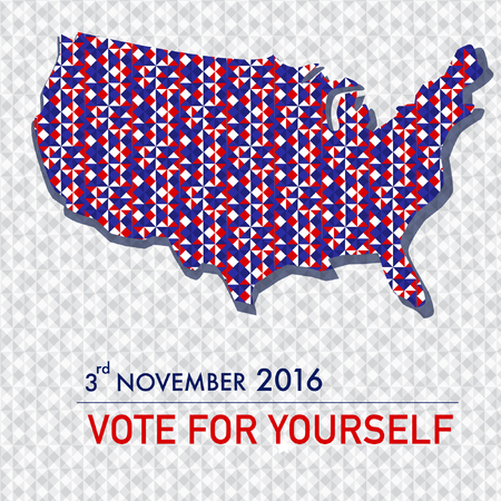 American election 2016 poster design set for web  and graphic design vector.