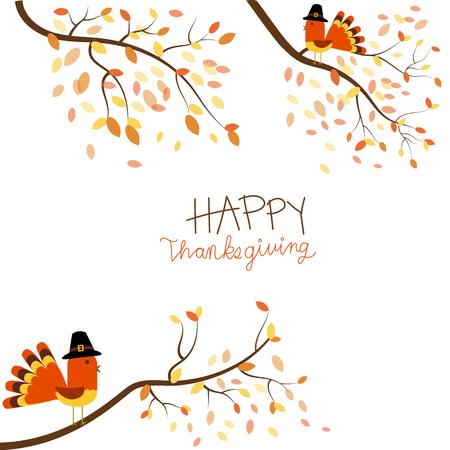 Gelukkig thanksgiving vector. Stockfoto - 67430899