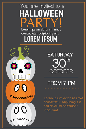 Halloween party invitation cards spider web  background  with hand lettering text vector. illustration EPS10.