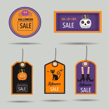 HHalloween sale badges vector.  illustration EPS10.