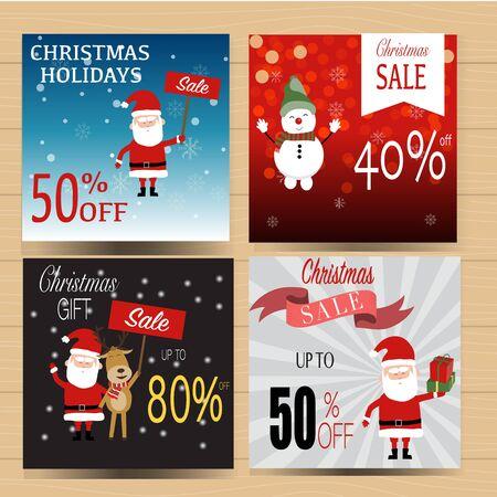 Christmas banner sale for winter holidays vector. Illusztráció