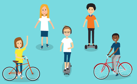 People in Generation Z with travel equipments illustration