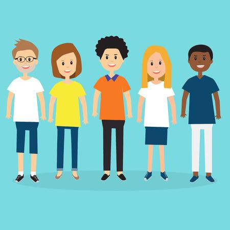People in Generation Z illustration