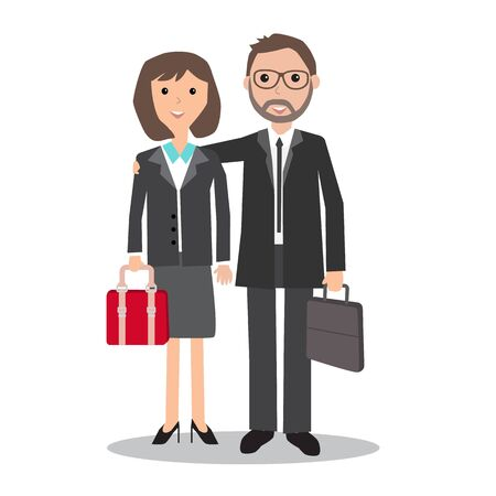 Businessman  and business women .illustration EPS10.