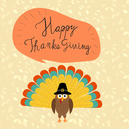 Happy Thanks giving illustration.