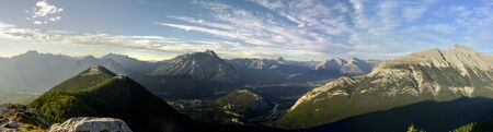 Beautiful view of the mountains around Banff Gondola in the Rocky Mountains, Banff National Park, Alberta, Canada.