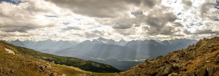 The view of the Rocky Mountains in Jasper