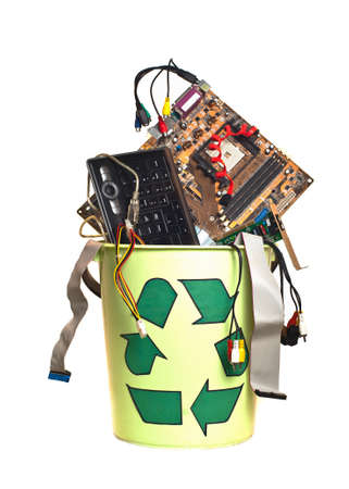 details of computing system in the trash Stock Photo - 9977149