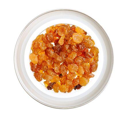 a raisins, isolated on white