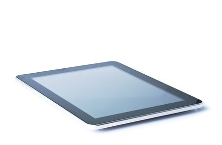 a tablet pc, isolated on white Stock Photo - 12936748