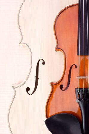 af violin  and wood texture photo