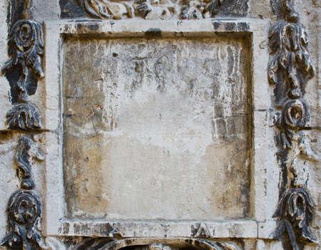 Blank panel in grey stone Stock Photo - 13706725