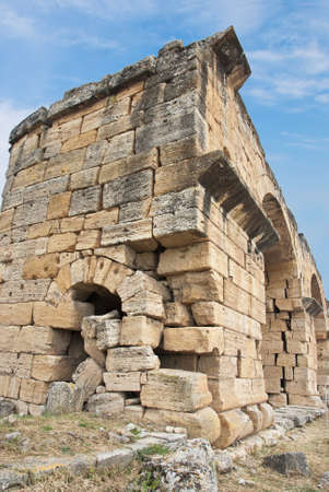 a ruins in Pamukkale, Turkey