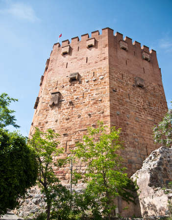 a old tower in Alanya, Turkey Stock Photo - 13706759