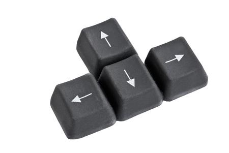 a four keyboard arrow keys isolated on white photo