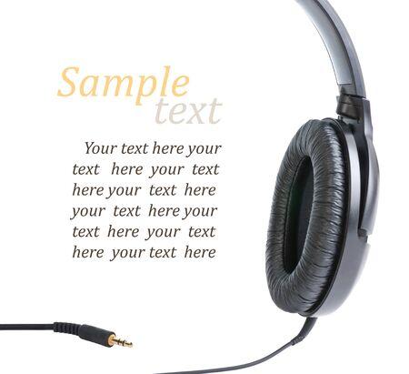 headphone with jack, isolated on white Stock Photo
