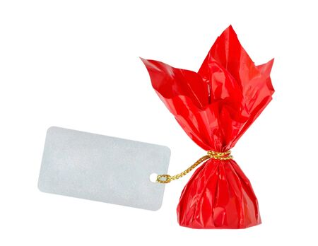 a red candy with wrapped message